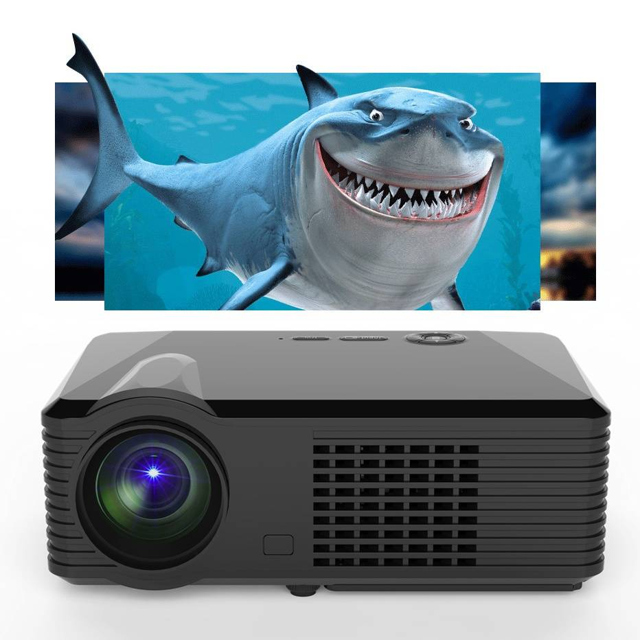 simplebeamer led Projector,2500 lumens up to 1080P,real home theater exceed 3D projector