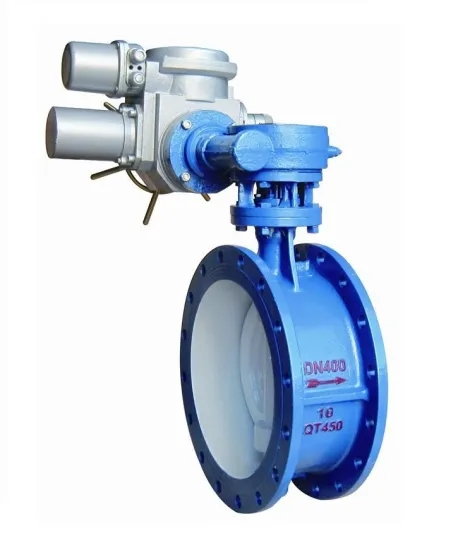 Triple Eccentric Butterfly Valve with Worm Gear