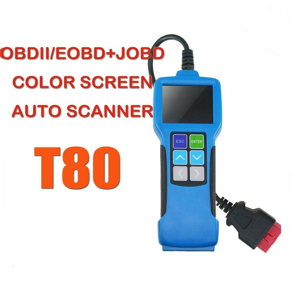 OBDII Auto Scanner,color display,Live Data Scanning Tool T80 OBDII+JOBD Scan Tool