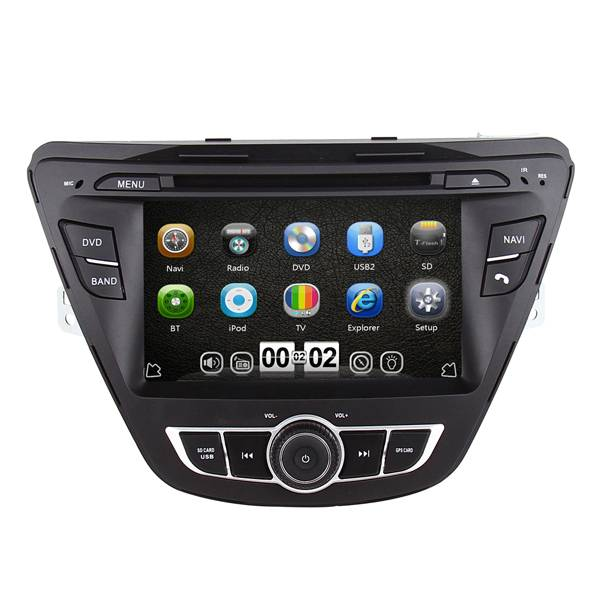 Touch Screen Car DVD GPS for Elantra 2014 with Ipod TV