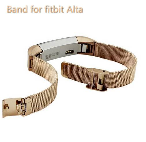 Fitbit Alta Accessories Stainless Steel with Mesh Adjustable Milanese Wrist Band for Fitbit Alta