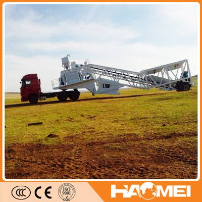 mobile concrete batching plant for sale in road construction