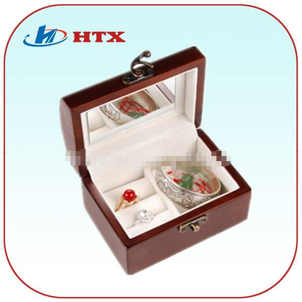 High Quality Wood Box for Jewelry with Mirror and Velvet