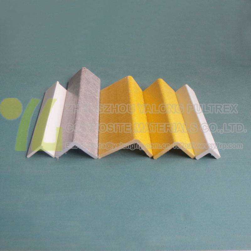 FRP fiberglass L shape profiles, GRP FRP equal angle pultruded profile