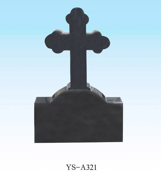 black granite celtic cross headstones