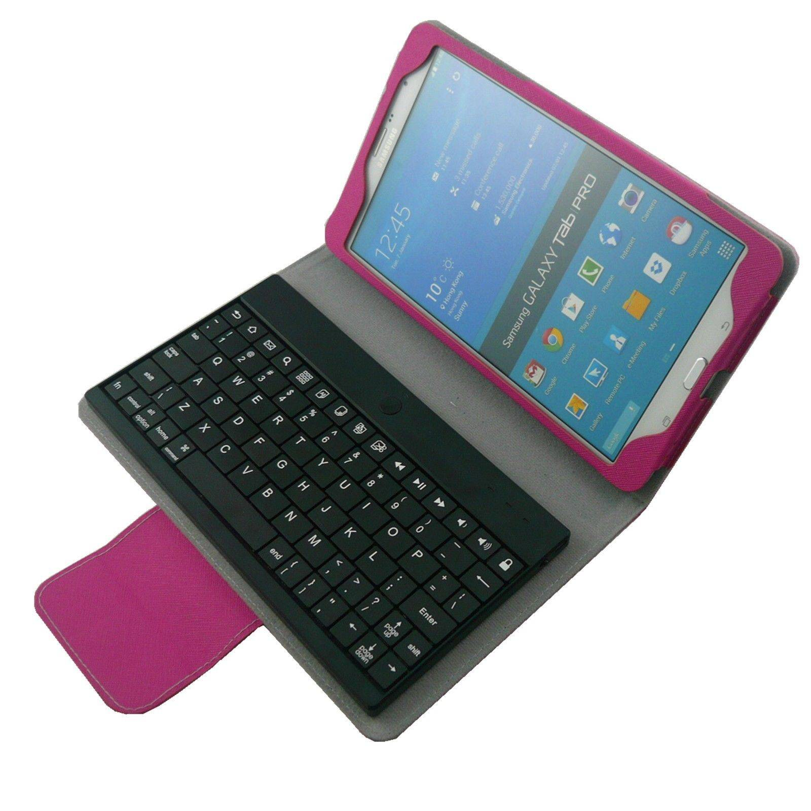 "Removable Bluetooth Keyboard Stand Case For Samsung Galaxy Note Pro 8.4"" T320"