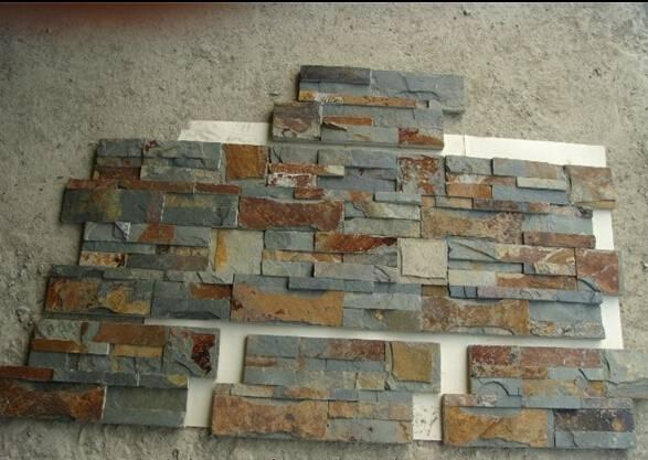 Natural slate stone wall panel