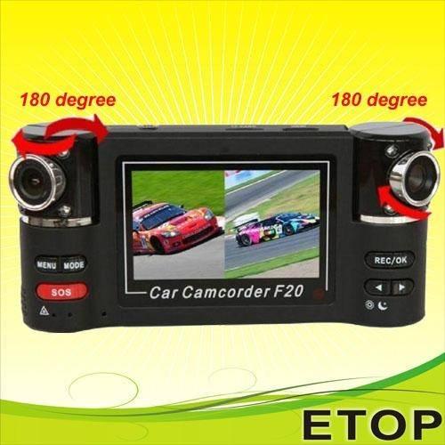 F20 dual lens car video recorder