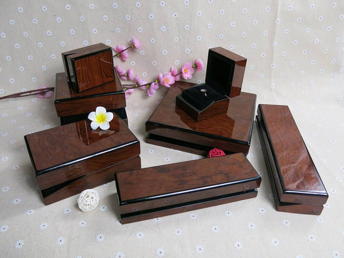 High Glossy Wooden Jewelry Packaging Box Set