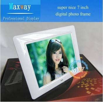 "Super nice 7"" digital photo frame lcd"