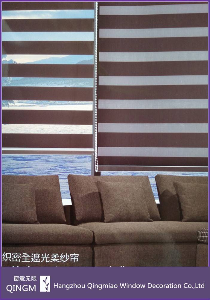 Office Use Fabric Of Roller Curtain High-density Zebra Blind