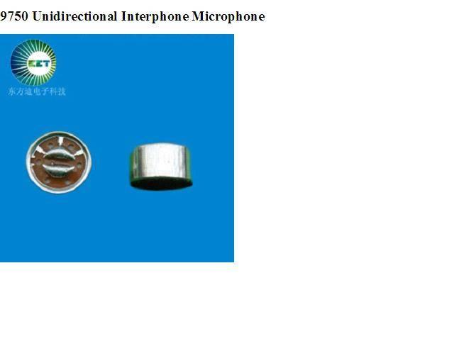 9750 Unidirectional Interphone Microphone
