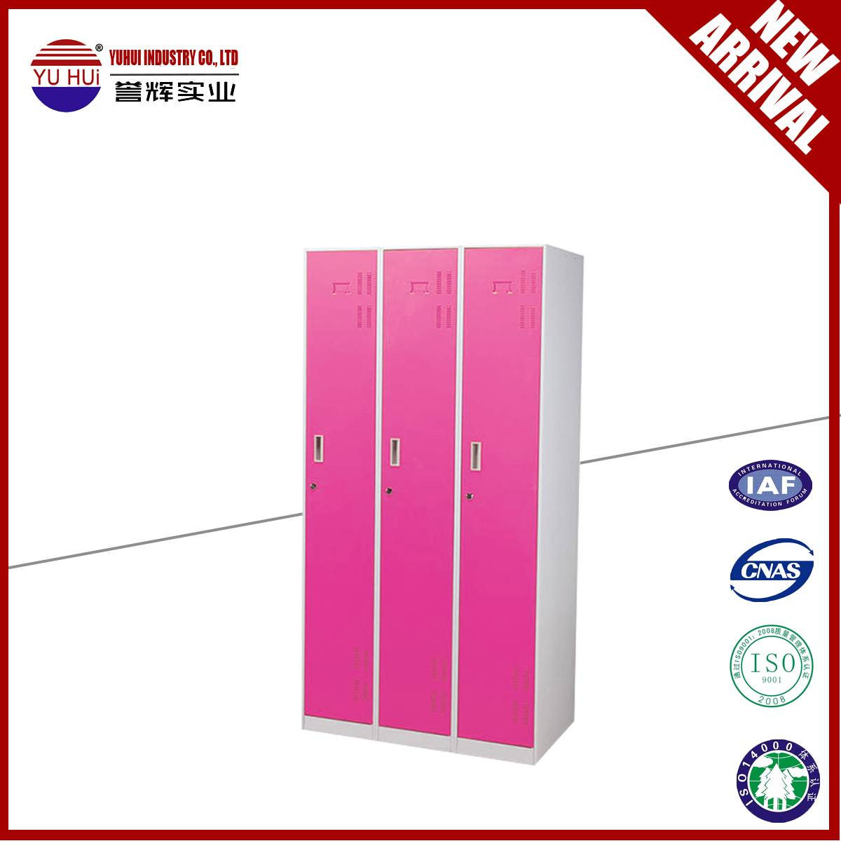 high quality 3 door metal wardrobe closet for sale
