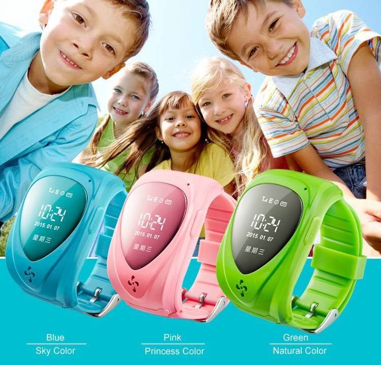 2015 New Fashion GPS Tracker for kids smart watch silicone GPS positioning smartwatch