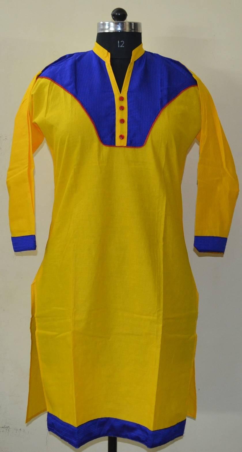Ethnic-Indian-designer-Cotton-Printed-Kurta-Top-Top Tunic Bust 36-40 Design