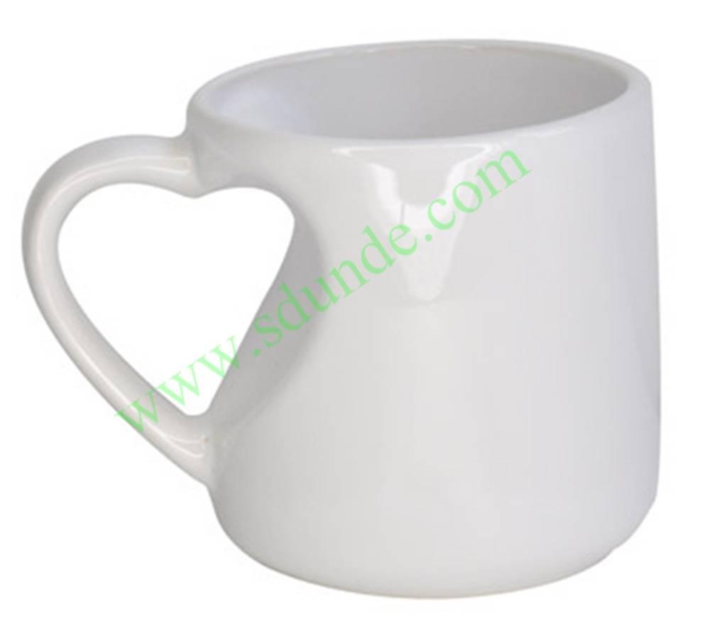 12oz Heart Handle Mug