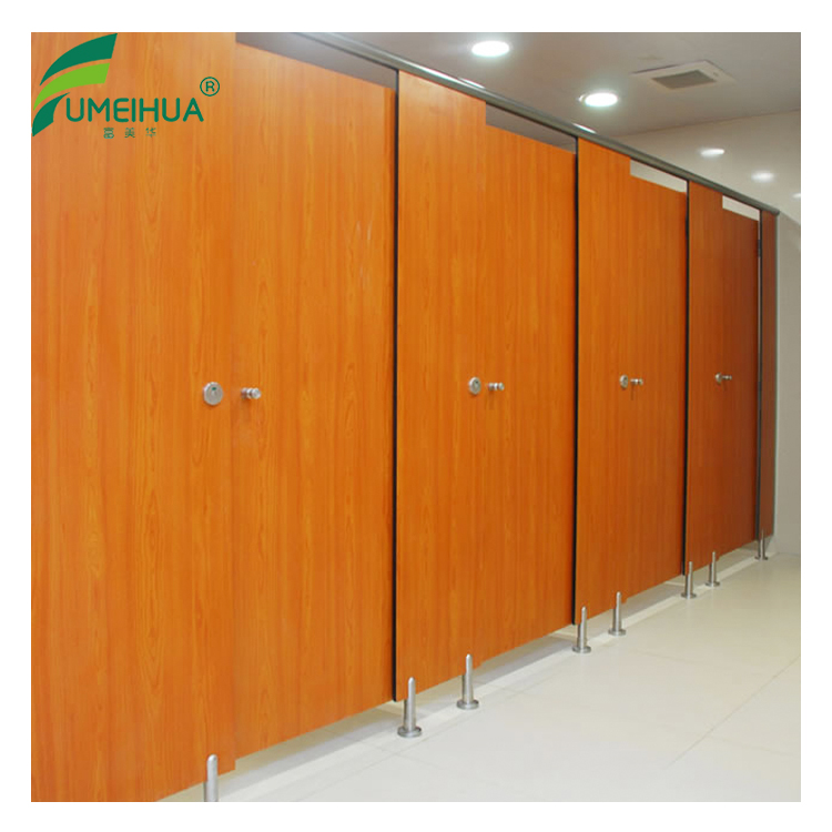 hpl waterproof toilet partition with stainless steel hardware