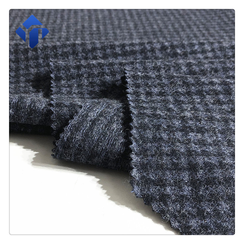 Wholesale good quality polyester knitted jacquard wool fabric for garment