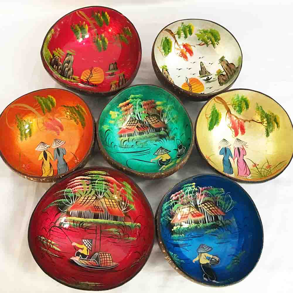 Lacquer shell bowls
