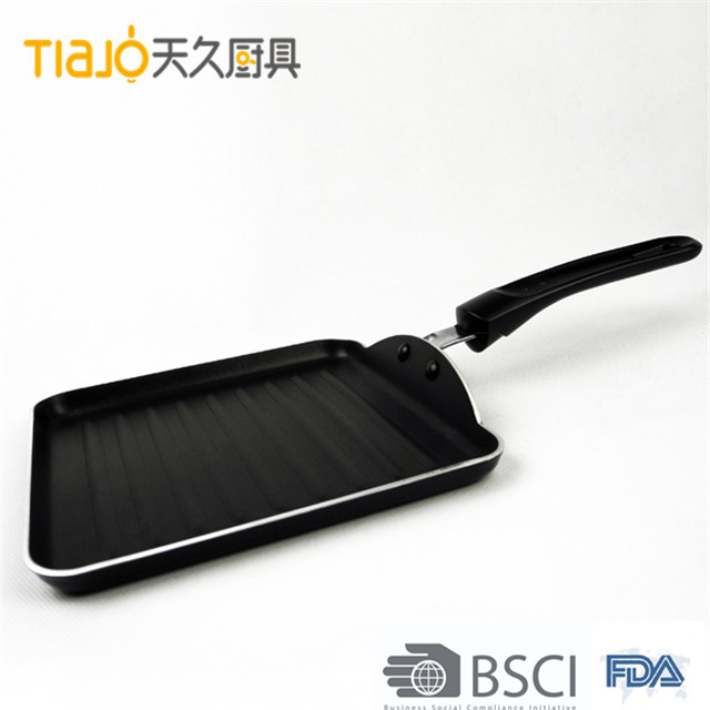 COOK Professional Aluminum18cm grill Pan with black Non-Stick Coating for picnic BBQ