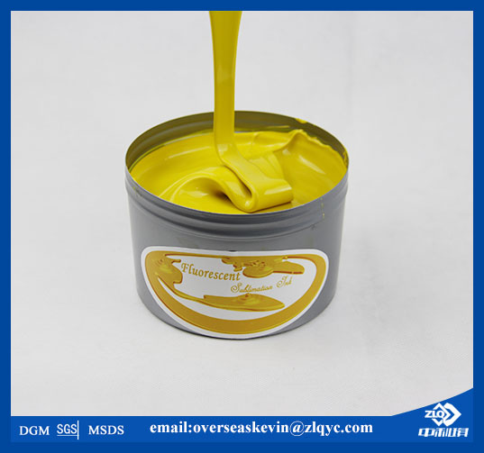 Fluorescent yellow sublimation ink for offset printing machine