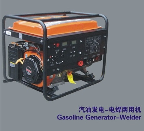 6.5KW Gasoline generator-welder with recoil start+wheel and handles