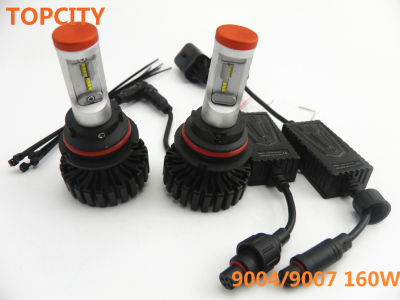 160W 6000LM LED Car Headlight Kit 9004 9007 High Low Beam Replace HALOGEN XENON