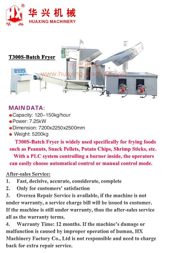 T300S-Batch Fryer