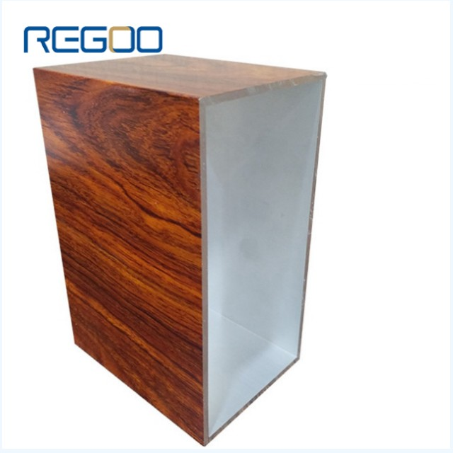 Customized Wood Grain Aluminium Extrusion Profiles