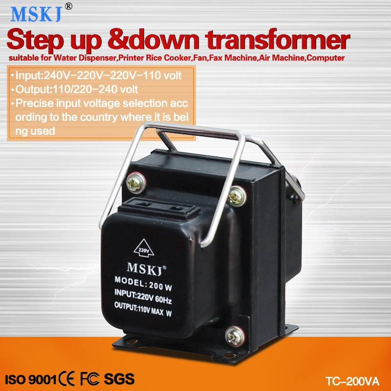 CE approved 200W step up and down tranaformer