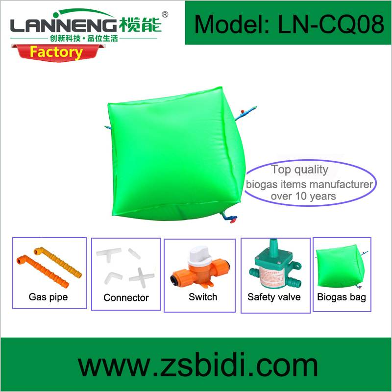Durable PVC biogas bag with good sealing, customized size available