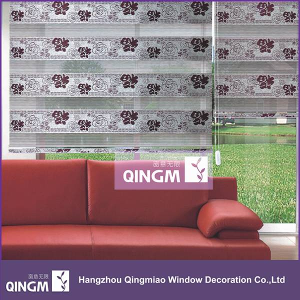 Jacquard Fabric Material Chinese Traditional Style Window Roller Blind