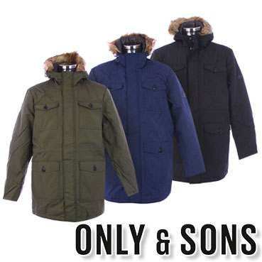 ONLY&SONS jackets for mens
