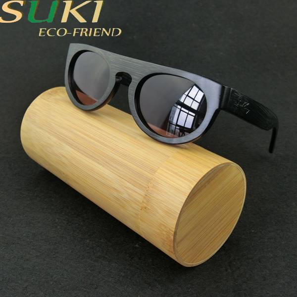 Wooden Bamboo Sunglasses Handmade Made Zebra Wood