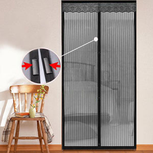 magnetic garage door screen with 18 strong magnets