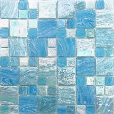 Bluwahle antiskid melt glass mosaic tile ,mosaic pool tiling