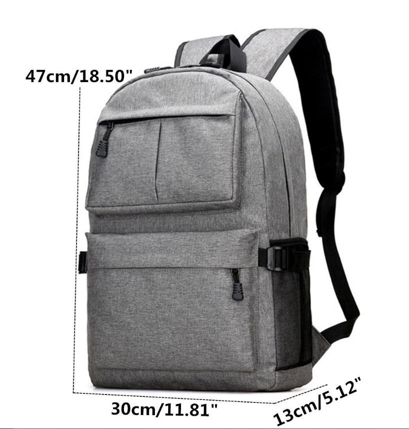 Men Women Oxford Backpack Laptop School Shoulder Bag Travel Rucksack