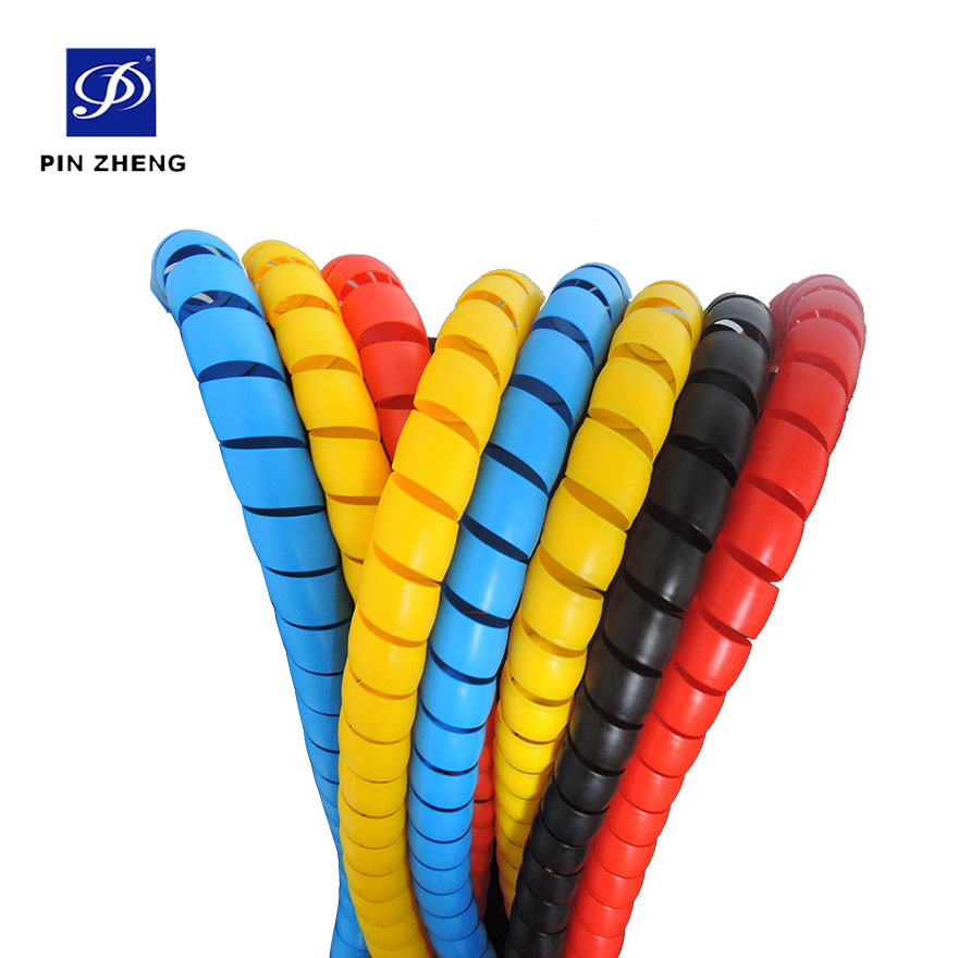 custom cambered flexible plastic cable spiral wrap