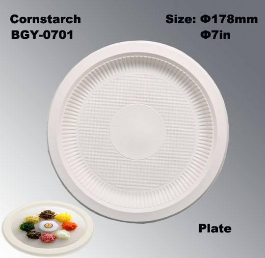 Cornstarch tableware biodegradable disposable plates