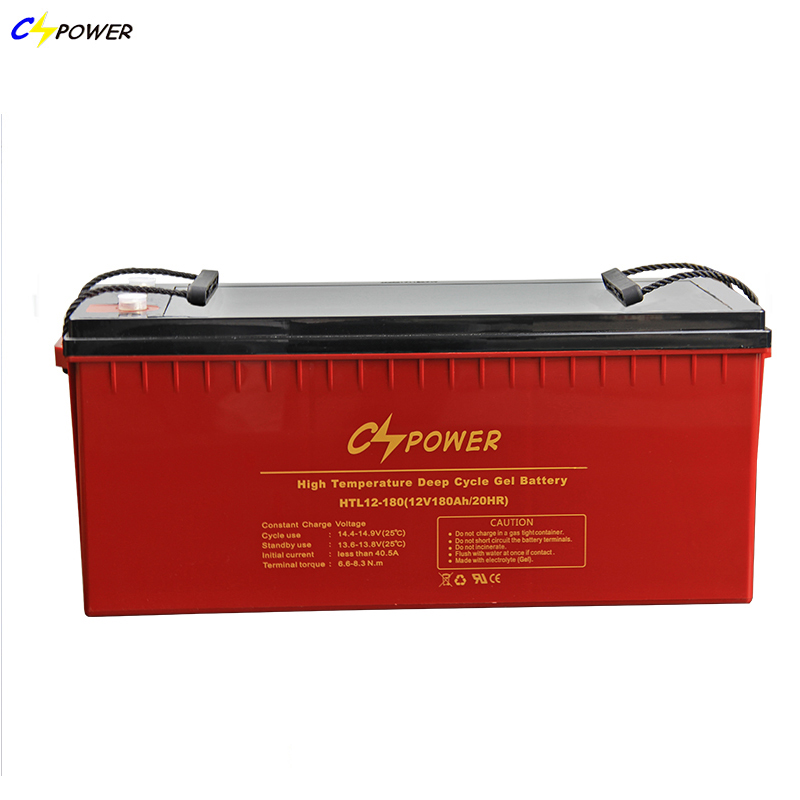 China Rechargeable 12V 180Ah Deep Cycle GEL Battery