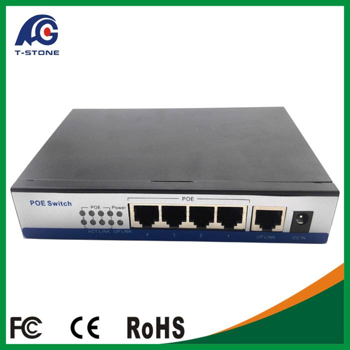 Good quality 4 port poe Switch with 4 POE Port and One Ethernet Uplink Port IEEE802.3af
