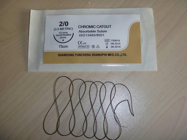 Sterile High Quality USP2/0 Chromic Catgut Suture