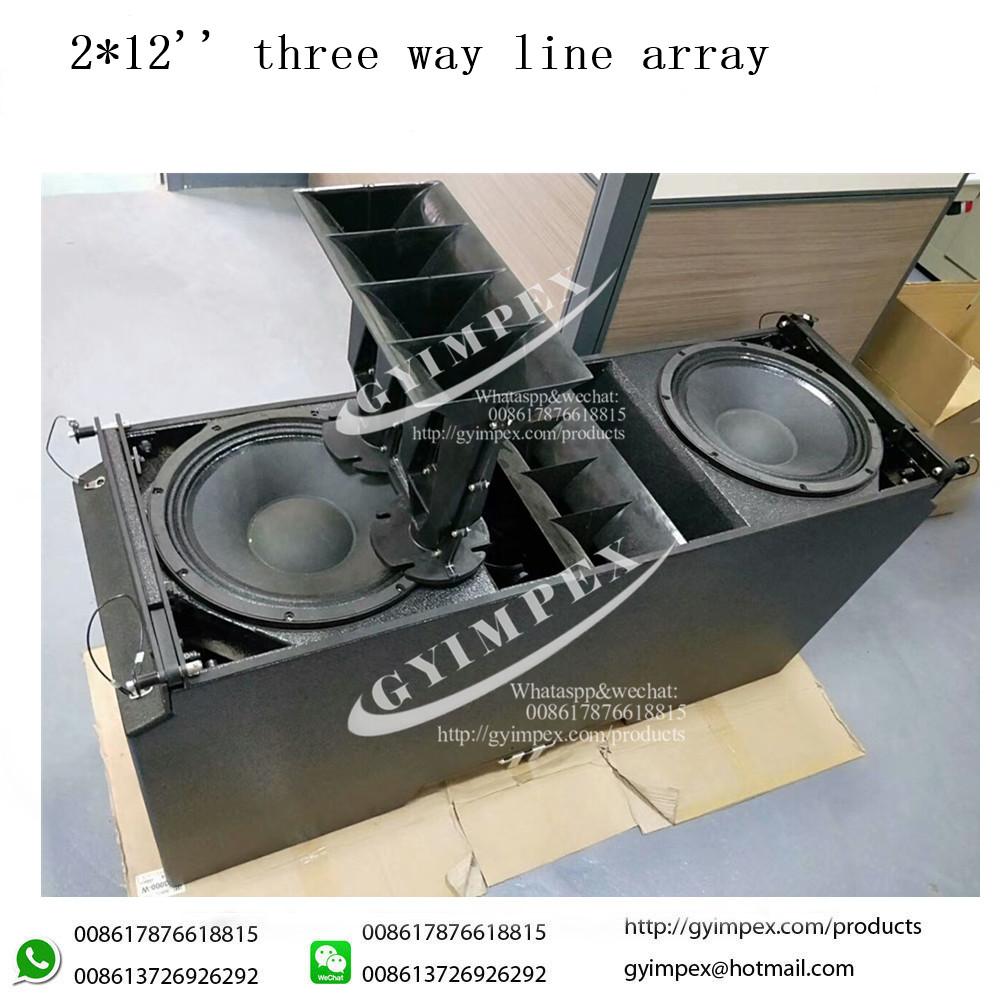 212 inch neodymium LOW and 2 3 inch neodymium HF powered line array