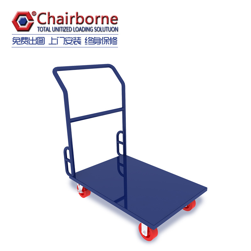 Heavy duty platform laundry trolley price hand trolley cart for goods delivery Trolley
