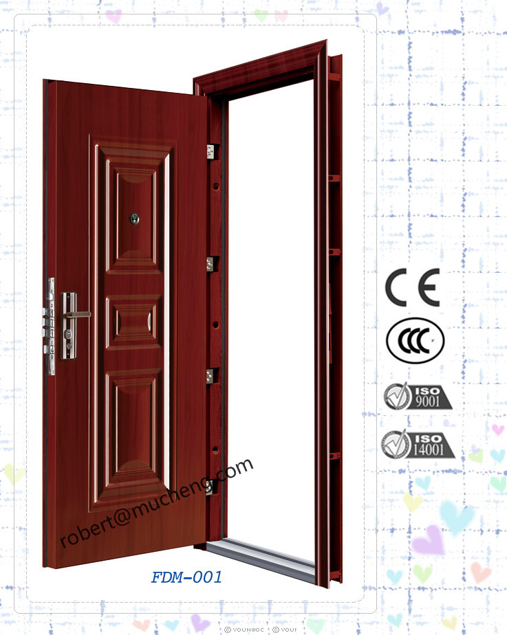 Main Entrance Cheap Modern China Manufacture Popular Steel Security Door