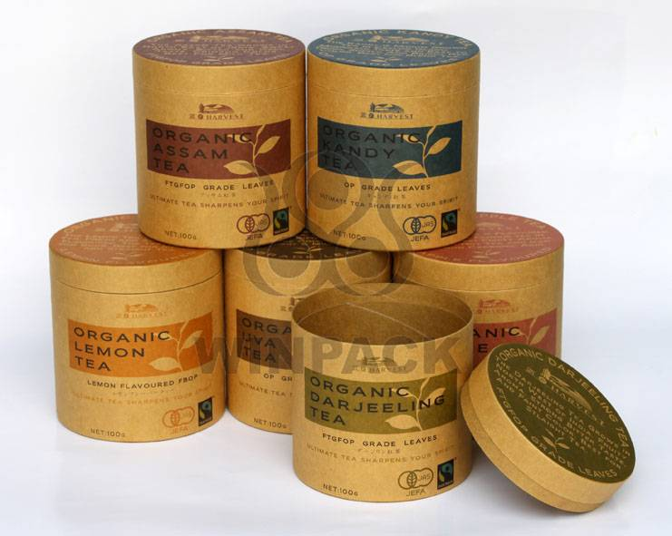 Food Grade Paper Tube Round Tea Box Tea Packaging