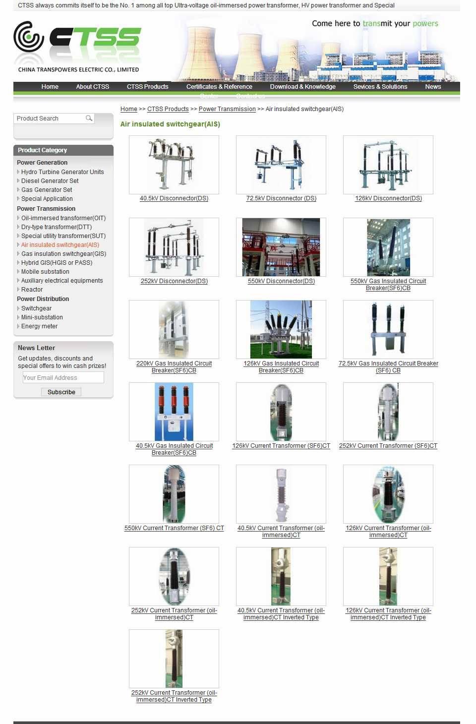 Air insulated switchgear(AIS)