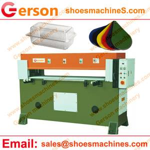 Manual Thin Plastic Sheet Feed Rlydranliac Cutting Machine