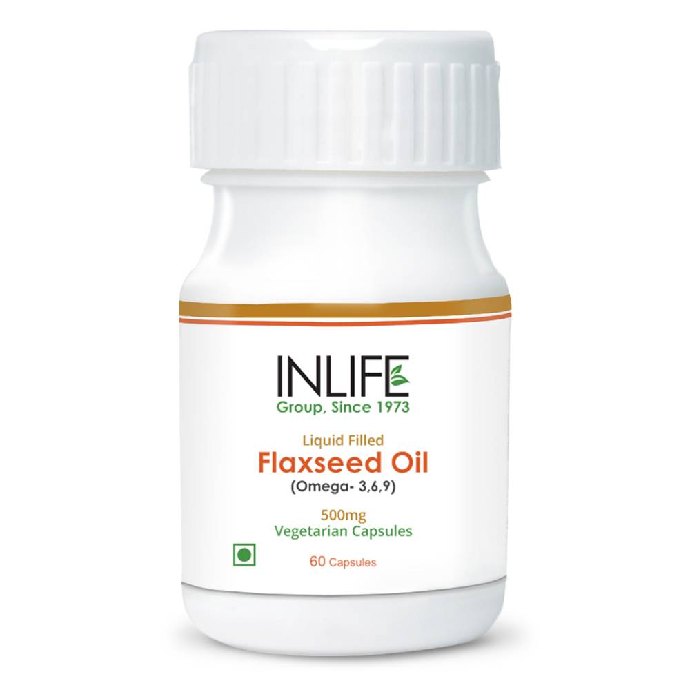 Omega 3 6 9 Capsule (Flaxseed Oil) Extra Virgin Cold Pressed Oil in Vegetarian Capsule GMP Certified