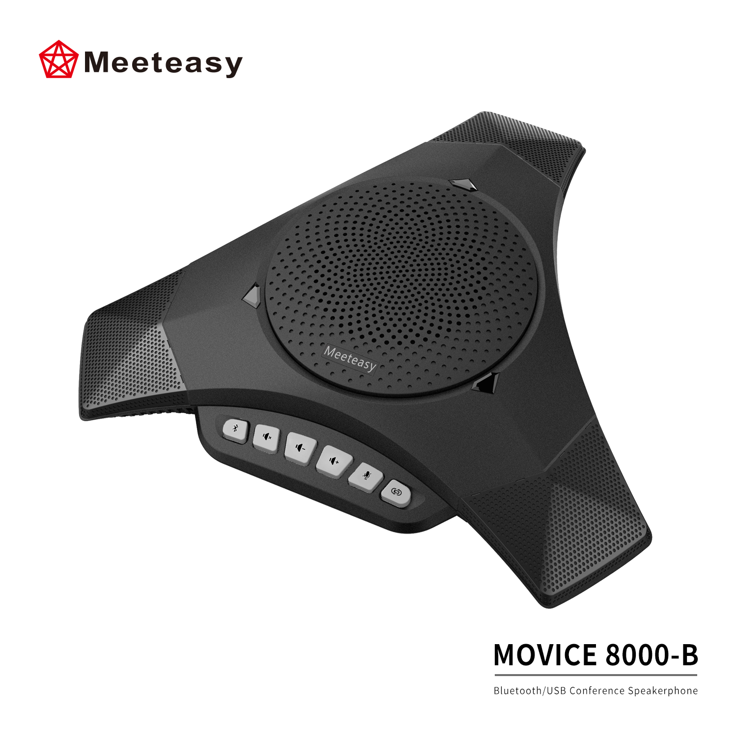 Meeteasy MVOICE 8000-B Bluetooth conference speakerphone for AV conferencing